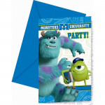 Monsters University invitationer