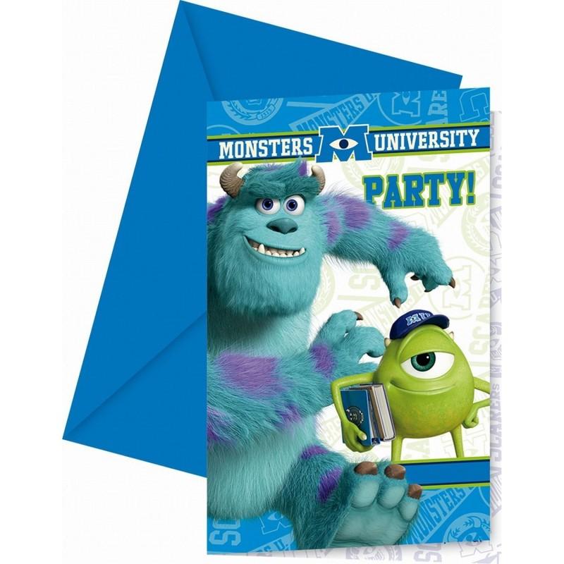 Billede af Monsters University invitationer