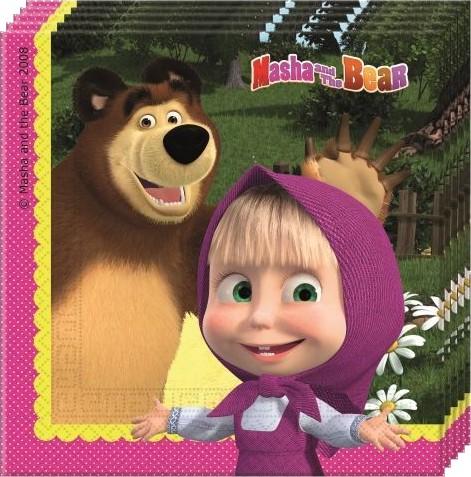 Billede af Masha og Bjørnen servietter