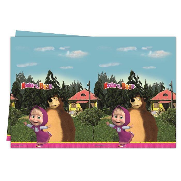 Billede af Masha og Bjørnen plastik dug