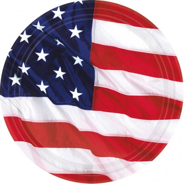 Billede af 8 stk. USA tallerkner