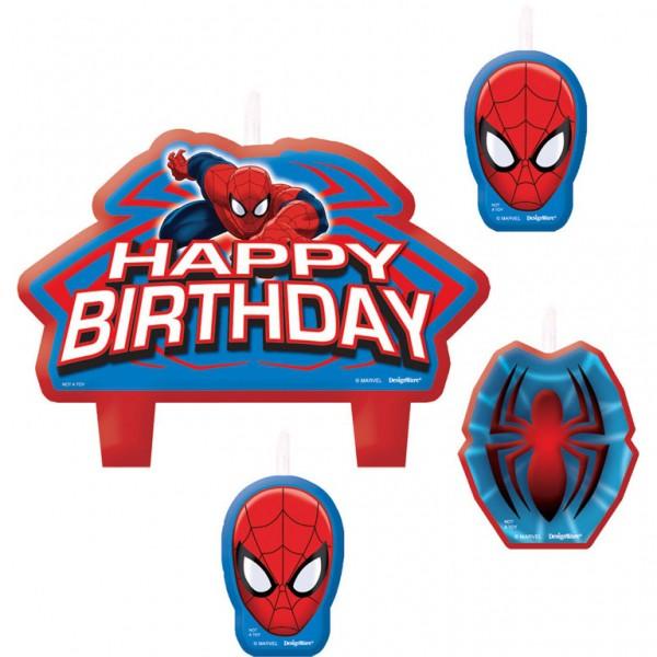 Billede af Spider-man fødselsdagslys