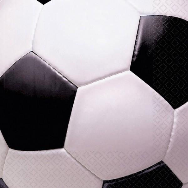 Billede af 16 stk. Fodbold servietter