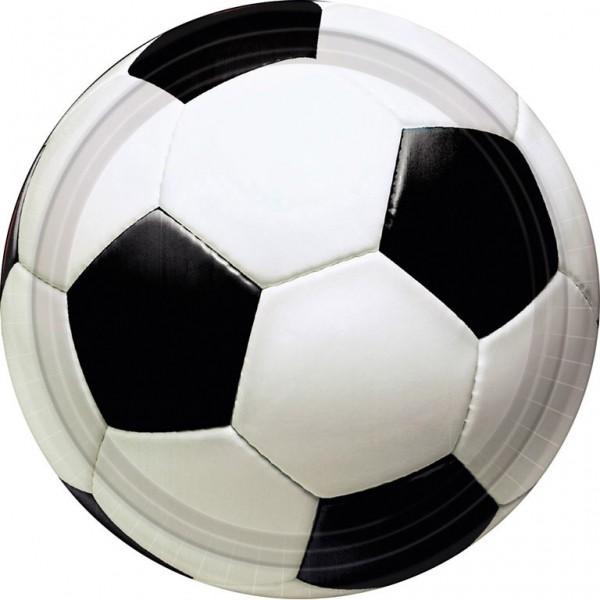 Billede af 8 stk. Fodbold pap tallerkner