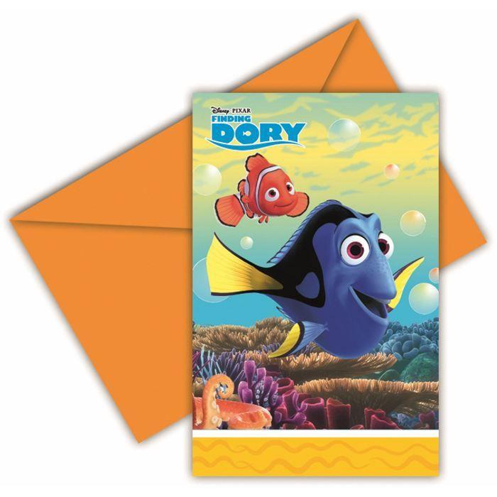 Billede af Find Dory invitationer