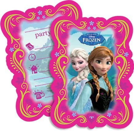 Billede af 6 Stk. Frost invitationer, Anna og Elsa