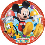 8 Stk. Mickey Mouse pap tallerkner, Party