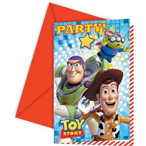 Billede af 6 stk. Toy Story invitationer