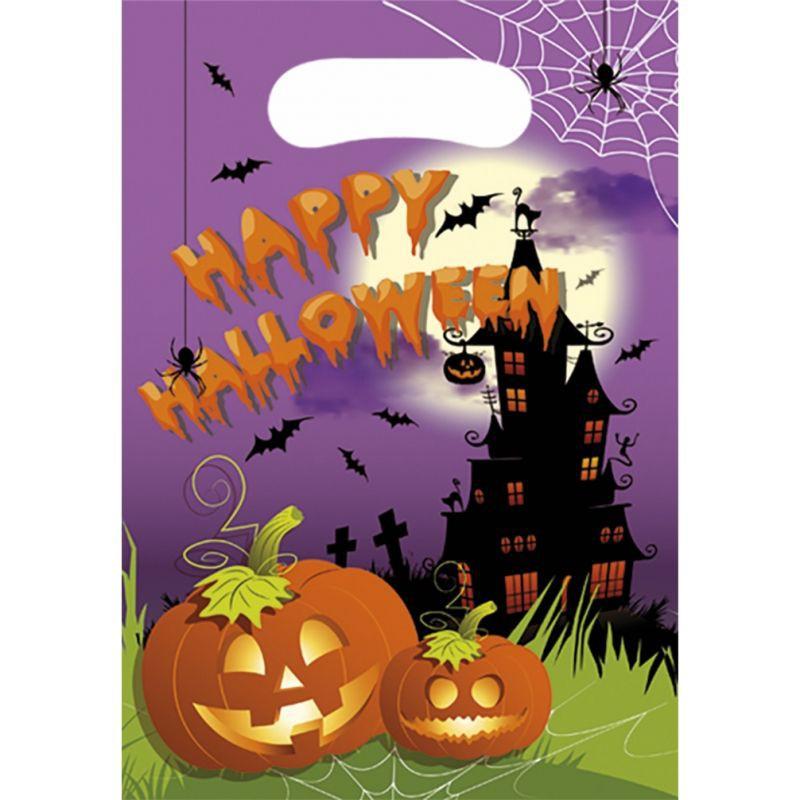Billede af 6 Stk. Halloween slikposer græskar