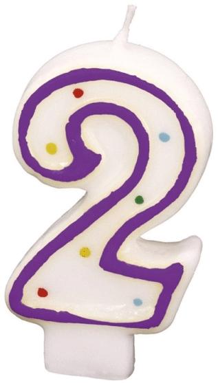 Billede af Fødselsdagslys - Tal: Fødselsdag - 2 års fødselsdag