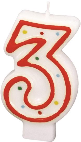 Billede af Fødselsdagslys - Tal: Fødselsdag - 3 års fødselsdag
