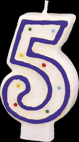 Billede af Fødselsdagslys - Tal: Fødselsdag - 5 års fødselsdag