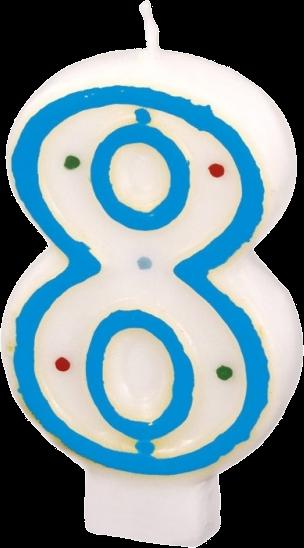 Billede af Fødselsdagslys - Tal: Fødselsdag - 8 års fødselsdag