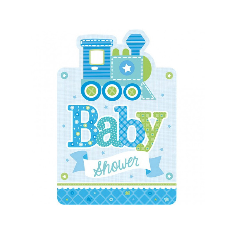 8 stk. Baby Shower Invitationer - Pige
