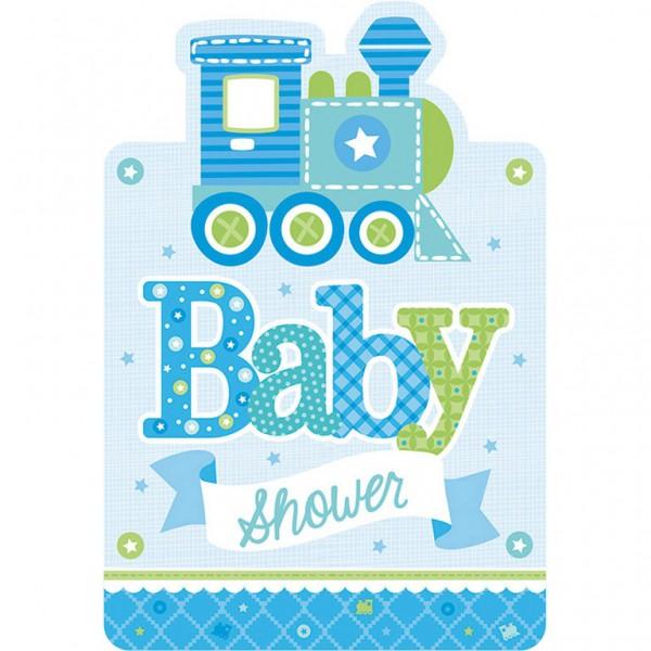 Billede af Baby Shower Invitationer - Dreng