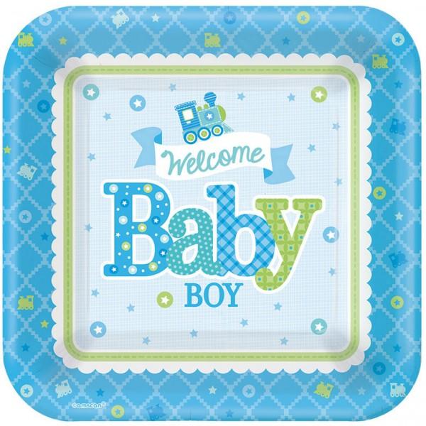 Billede af Baby Shower Paptallerkner - Dreng